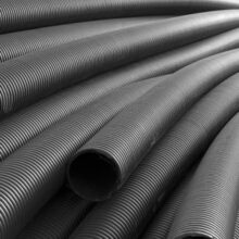 PE polymers black pipes square