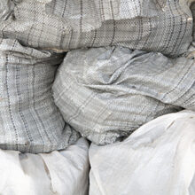 Polypropylene bags with rubble