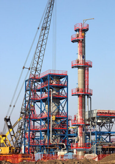new refinery construction site